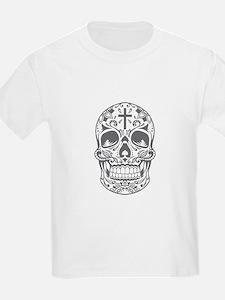 SugarSkull Grey-01 T-Shirt