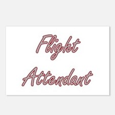 Flight Attendant Artistic Postcards (Package of 8)
