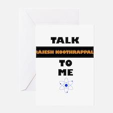 Talk Rajesh Koothrappali to Me Greeting Cards