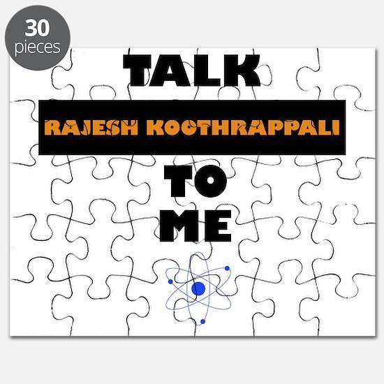 Talk Rajesh Koothrappali to Me Puzzle