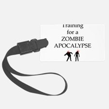 Training for Zombie Luggage Tag