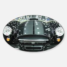 Black car Sticker (Oval)