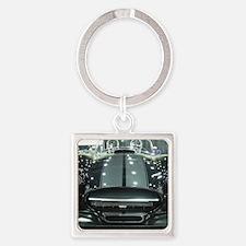 Black car Square Keychain