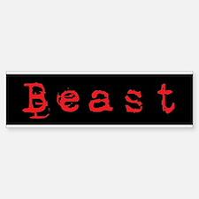 Beast Bumper Bumper Bumper Sticker