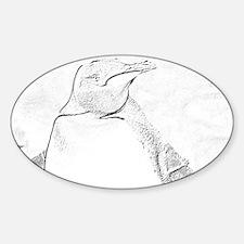 penguin sketch Decal