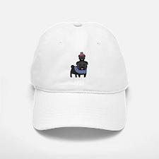 Patriotic Pugs - Black Pug Baseball Baseball Cap