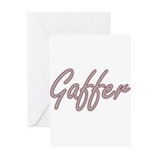 Gaffer Artistic Job Design Greeting Cards