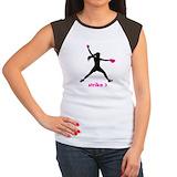 Softball Women's Cap Sleeve T-Shirt