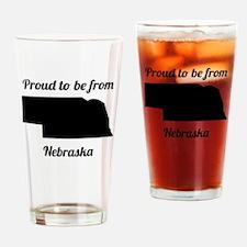 Proud To Be From Nebraska Drinking Glass