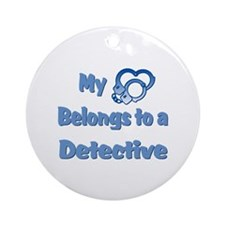 Detective Heart Ornament (Round)