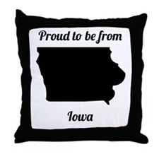 Proud To Be From Iowa Throw Pillow