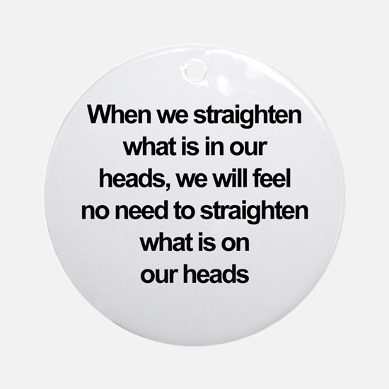 African American quote Ornament (Round)