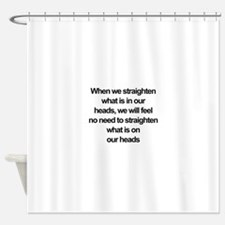 African American quote Shower Curtain