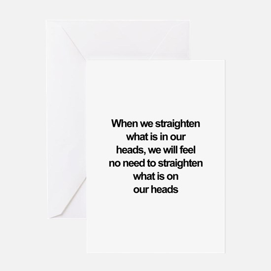African American quote Greeting Cards