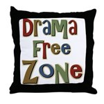 Funny Drama Free Zone Throw Pillow