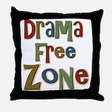 Funny Drama Free Zone Throw Pillow
