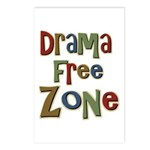 Funny Drama Free Zone Postcards (Package of 8)