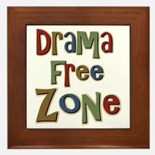 Funny Drama Free Zone Framed Tile