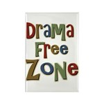 Funny Drama Free Zone Rectangle Magnet (10 pack)