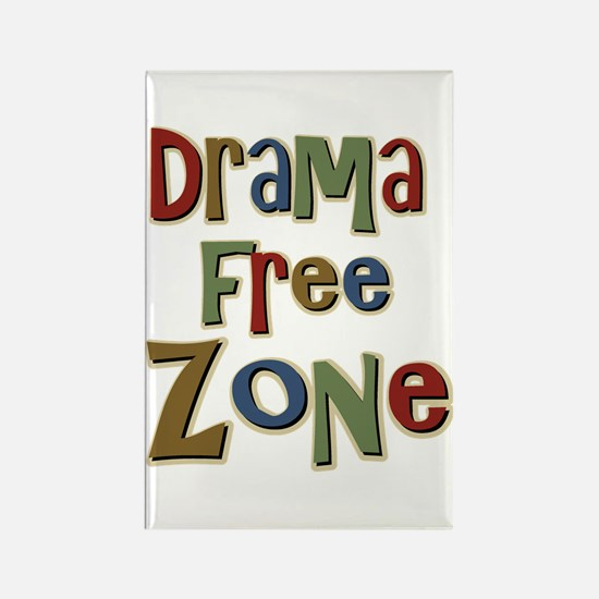 Funny Drama Free Zone Rectangle Magnet
