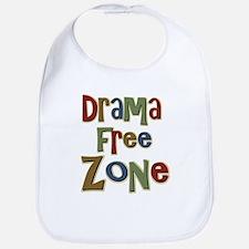 Funny Drama Free Zone Bib
