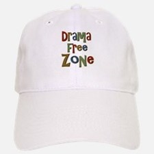 Funny Drama Free Zone Baseball Baseball Cap