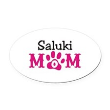 Saluki Oval Car Magnet