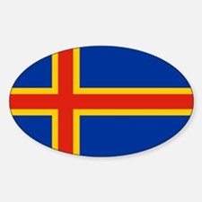 Square Aaland Islands Flag Decal