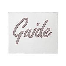 Guide Artistic Job Design Throw Blanket