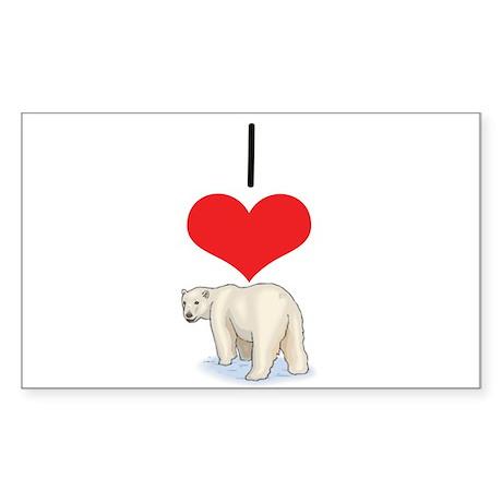 Polar Bear Rectangle Sticker