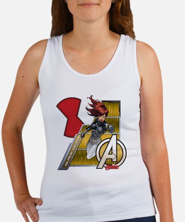The Avengers Black Widow Flying Women's Tank Top
