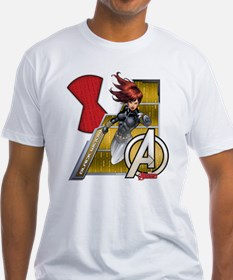 The Avengers Black Widow Flying Shirt