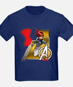 The Avengers Black Widow Flying T