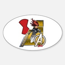 The Avengers Black Widow Flying Sticker (Oval)