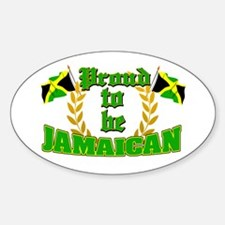 Proud to be Jamaican Oval Decal