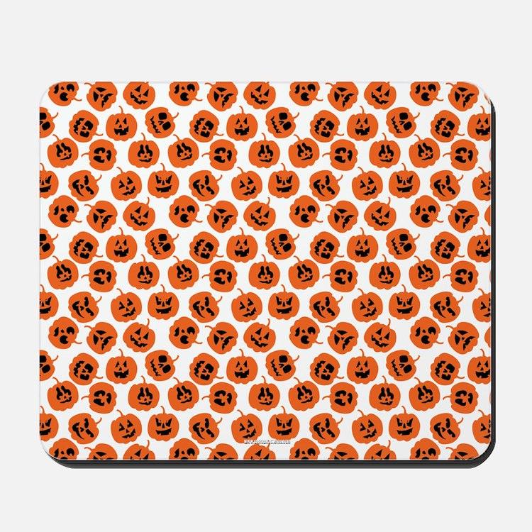 Halloween Pumpkin Pattern Mousepad