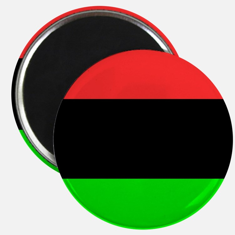 Square African American Flag Magnets