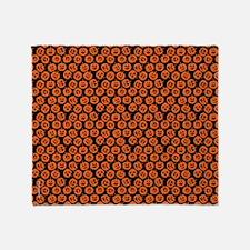 Halloween Pumpkin Pattern Throw Blanket