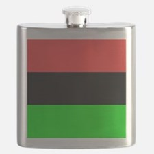 Square African American Flag Flask
