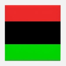 Square African American Flag Tile Coaster