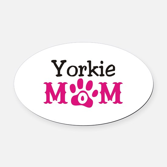 Yorkie Oval Car Magnet