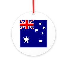 Square Australian Flag Ornament (Round)