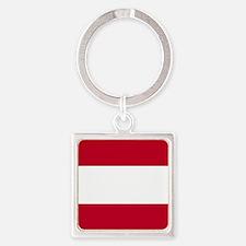 Square Austrian Flag Keychains