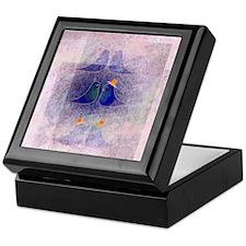 Gay birds in love Keepsake Box