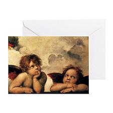 Sistine Madonna Angels by Raphael Greeting Card