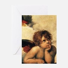 Sistine Madonna Angels by Raphael Greeting Cards