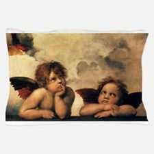 Sistine Madonna Angels by Raphael Pillow Case