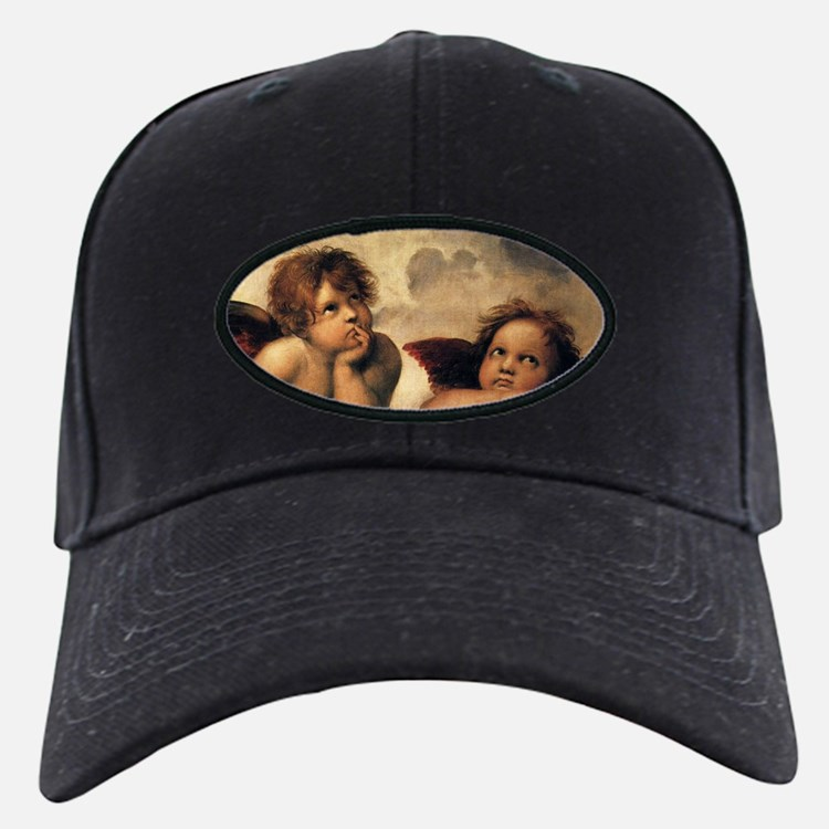 Sistine Madonna Angels by Raphael Baseball Hat