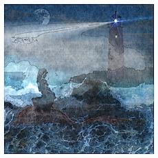 Ocean Sirene watercolor Poster