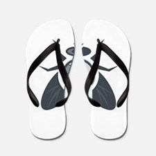 Fly with Camera Lens on Back Isolated Flip Flops